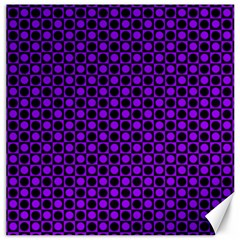 Friendly Retro Pattern B Canvas 16  X 16   by MoreColorsinLife