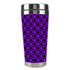 Friendly Retro Pattern B Stainless Steel Travel Tumblers by MoreColorsinLife