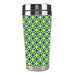 Friendly Retro Pattern C Stainless Steel Travel Tumblers by MoreColorsinLife