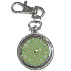 Friendly Retro Pattern D Key Chain Watches by MoreColorsinLife