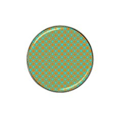 Friendly Retro Pattern D Hat Clip Ball Marker (10 Pack) by MoreColorsinLife