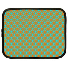 Friendly Retro Pattern D Netbook Case (xl)  by MoreColorsinLife