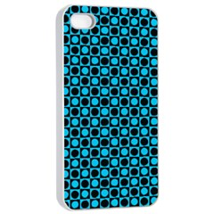 Friendly Retro Pattern E Apple Iphone 4/4s Seamless Case (white) by MoreColorsinLife