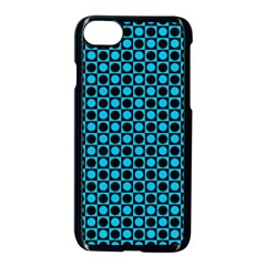 Friendly Retro Pattern E Apple Iphone 7 Seamless Case (black) by MoreColorsinLife