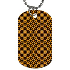 Friendly Retro Pattern F Dog Tag (two Sides) by MoreColorsinLife