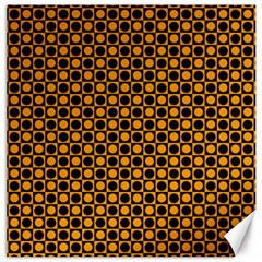 Friendly Retro Pattern F Canvas 16  X 16   by MoreColorsinLife