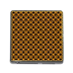 Friendly Retro Pattern F Memory Card Reader (square) by MoreColorsinLife