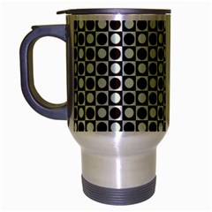 Friendly Retro Pattern H Travel Mug (silver Gray)