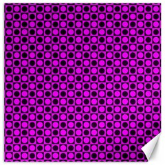Friendly Retro Pattern G Canvas 16  X 16   by MoreColorsinLife