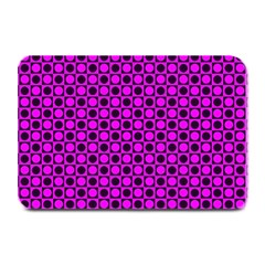 Friendly Retro Pattern G Plate Mats by MoreColorsinLife