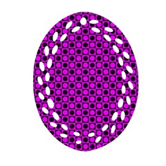 Friendly Retro Pattern G Ornament (oval Filigree) by MoreColorsinLife