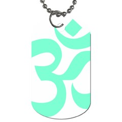 Hindu Om Symbol (cyan Blue) Dog Tag (one Side) by abbeyz71