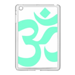 Hindu Om Symbol (cyan Blue) Apple Ipad Mini Case (white) by abbeyz71