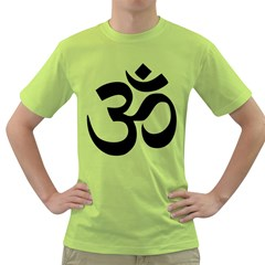 Hindu Om Symbol  Green T-shirt by abbeyz71