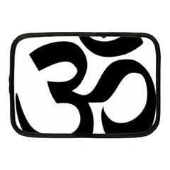Hindu Om Symbol  Netbook Case (medium)