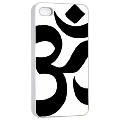 Hindu Om Symbol  Apple Iphone 4/4s Seamless Case (white) by abbeyz71
