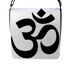 Hindu Om Symbol  Flap Messenger Bag (l)  by abbeyz71