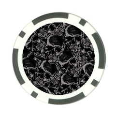 Skulls Pattern Poker Chip Card Guard by ValentinaDesign