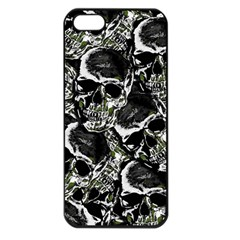 Skulls Pattern Apple Iphone 5 Seamless Case (black) by ValentinaDesign