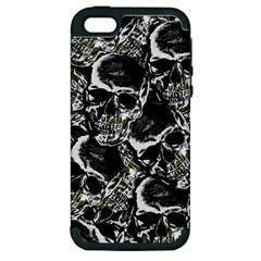 Skulls Pattern Apple Iphone 5 Hardshell Case (pc+silicone) by ValentinaDesign