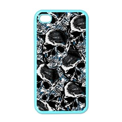 Skulls Pattern Apple Iphone 4 Case (color) by ValentinaDesign