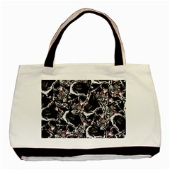 Skulls Pattern Basic Tote Bag (two Sides) by ValentinaDesign
