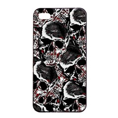 Skulls Pattern Apple Iphone 4/4s Seamless Case (black) by ValentinaDesign
