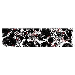 Skull Pattern Satin Scarf (oblong) by ValentinaDesign