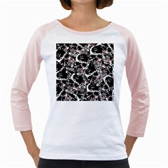 Skull Pattern Girly Raglans by ValentinaDesign