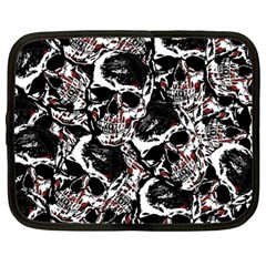 Skull Pattern Netbook Case (large) by ValentinaDesign