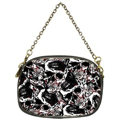 Skull Pattern Chain Purses (one Side)  by ValentinaDesign