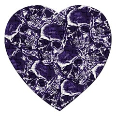 Skull Pattern Jigsaw Puzzle (heart) by ValentinaDesign