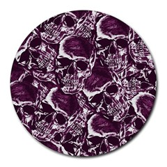 Skull Pattern Round Mousepads by ValentinaDesign