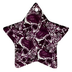 Skull Pattern Star Ornament (two Sides) by ValentinaDesign
