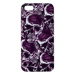 Skull Pattern Apple Iphone 5 Premium Hardshell Case by ValentinaDesign