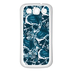Skull Pattern Samsung Galaxy S3 Back Case (white) by ValentinaDesign