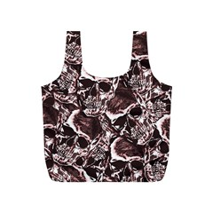 Skull Pattern Full Print Recycle Bags (s)  by ValentinaDesign