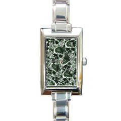 Skull Pattern Rectangle Italian Charm Watch by ValentinaDesign
