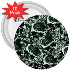 Skull Pattern 3  Buttons (10 Pack)  by ValentinaDesign