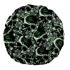 Skull Pattern Large 18  Premium Flano Round Cushions by ValentinaDesign