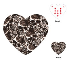Skull Pattern Playing Cards (heart)  by ValentinaDesign