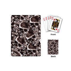 Skull Pattern Playing Cards (mini)  by ValentinaDesign