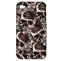Skull Pattern Apple Iphone 4/4s Hardshell Case (pc+silicone) by ValentinaDesign