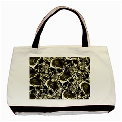 Skull Pattern Basic Tote Bag by ValentinaDesign