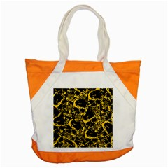 Skull Pattern Accent Tote Bag by ValentinaDesign