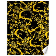 Skull Pattern Canvas 18  X 24   by ValentinaDesign