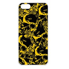 Skull Pattern Apple Iphone 5 Seamless Case (white) by ValentinaDesign
