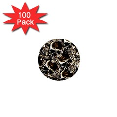 Skull Pattern 1  Mini Magnets (100 Pack)  by ValentinaDesign