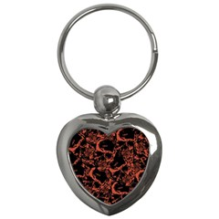 Skull Pattern Key Chains (heart)  by ValentinaDesign