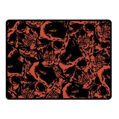 Skull Pattern Fleece Blanket (small) by ValentinaDesign